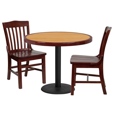 """Breakroom Table and Chair Set- 36"""""""