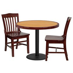 Breakroom Table and Chair Set- 36""