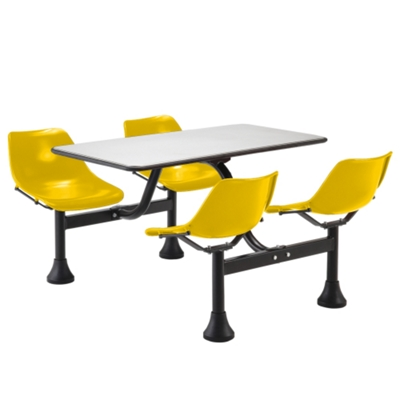 Cluster Lunchroom Table With Four Chairs   71W X 48D   44521 And More  Lifetime Guarantee