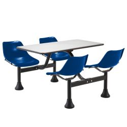 "Cluster Lunchroom Table with Four Chairs - 65"" W x 48"" D"