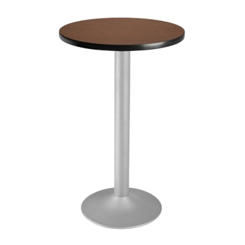 Round FlipTop Cafe Table With Pedestal Base And More - Round metal cafe table