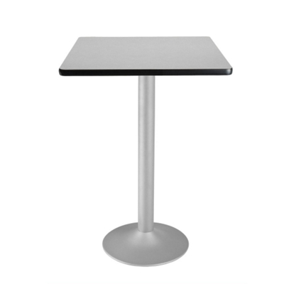 "30"" Square Flip-Top Cafe Table with Pedestal Base"
