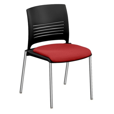 Cafe Stack Chair with Fabric Seat