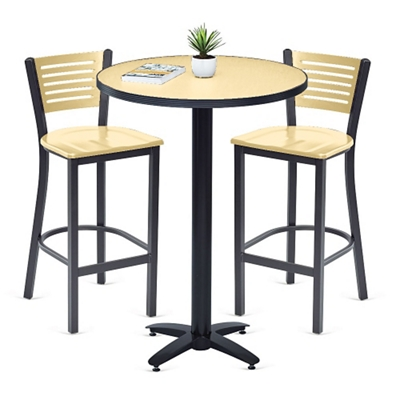 Loft Bar Height Table and Two Chair Set