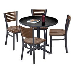 Loft Breakroom Standard Height Table and Four Chair Set