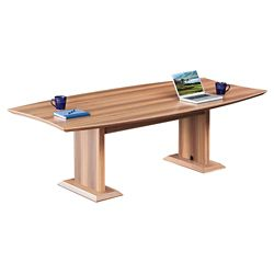 Curved Boat-Shaped Conference Table - 8'