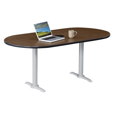 "Frappe Oval Table with Power - 72""W"
