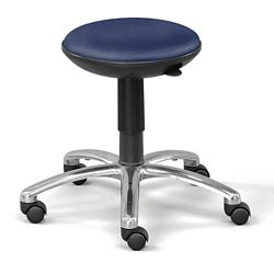 Polyurethane Adjustable-Height Rolling Stool with Memory Foam Seat
