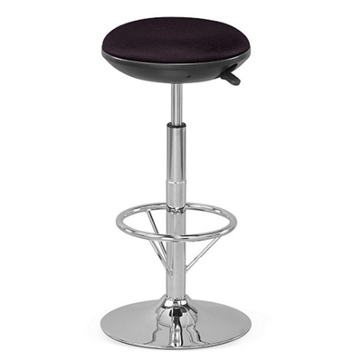 Fabric Adjustable-Height Stationary Stool with Memory Foam Seat