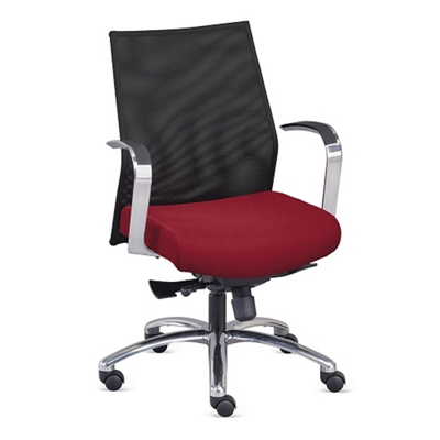 Nano Mesh Back Fabric Conference Chair
