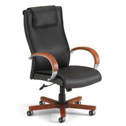 Apex High Grade Leather High-Back Chair