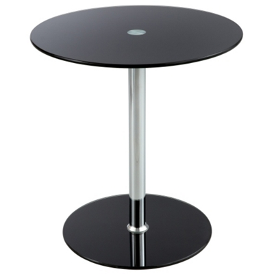 "Round Glass Top Accent Table - 17.75""DIA"