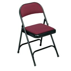 Folding Chair with Padded Seat and Back