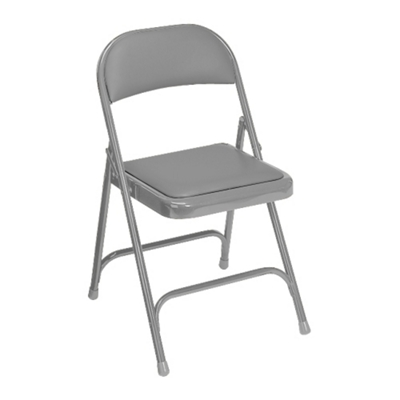Folding Chair with Padded Vinyl Seat and Back