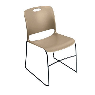 Stack Chair with Polypropylene Seat and Back without Glides