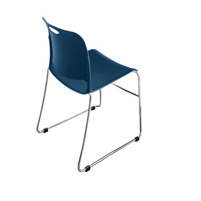 """Poly Stack Chair with Glides 18""""W x 31.5""""H"""