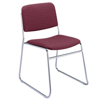 Chrome Sled Base Stack Chair