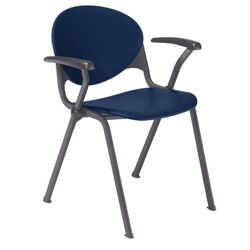 400lb. Capacity Heavy-Duty Plastic Stack Chair with Arms