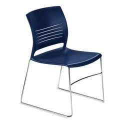 Armless Sled Base Polypropylene Stack Chair