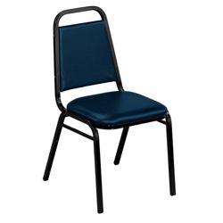 """Square Back Vinyl Stack Chair with 1-1/2"""" Seat"""