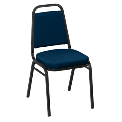 "Square Back Vinyl Stack Chair with 2"" Seat"