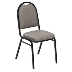 """Round Back Vinyl Stack Chair with 2"""" Seat"""