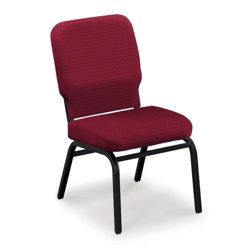 Armless Fabric Ganging Stack Chair - 500 lb Weight Capacity