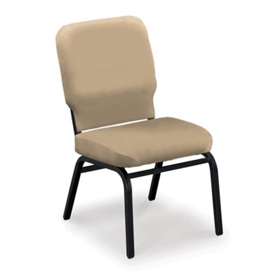 Armless Vinyl Ganging Stack Chair - 500 lb Weight Capacity