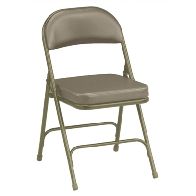 """Oasis Vinyl Folding Chair with 2-1/4"""" Thick Seat"""