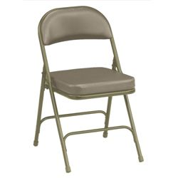 "Oasis Vinyl Folding Chair with 2-1/4"" Thick Seat"