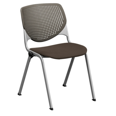 Perforated Poly Back and Upholstered Seat Stack Chair - 400 lb. Capacity