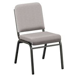 Solid Upholstery Armless Stack Chair