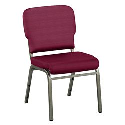 Solid Upholstery Armless Wingback Stack Chair