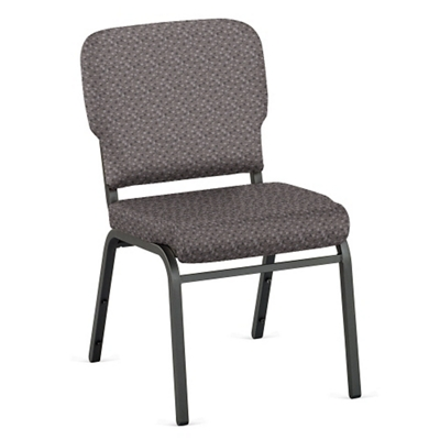 Designer Upholstery Armless Wingback Stack Chair