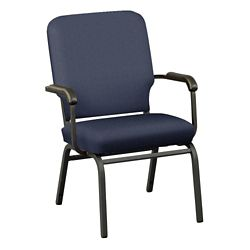 Solid Upholstery Big and Tall Wingback Stack Chair