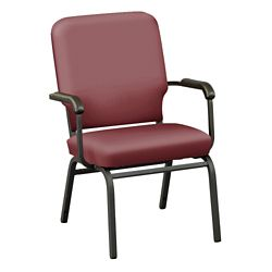 Designer Upholstery Big and Tall Wingback Stack Chair