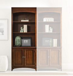 """80.5""""H 3 Shelf Contemporary Bookcase with Doors"""