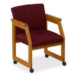 Angled Arm Conference Chair with Casters