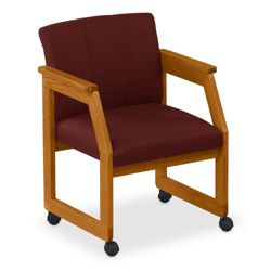Angle Arm Conference Chair with Casters