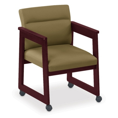 Tapered Arm Conference Chair with Casters