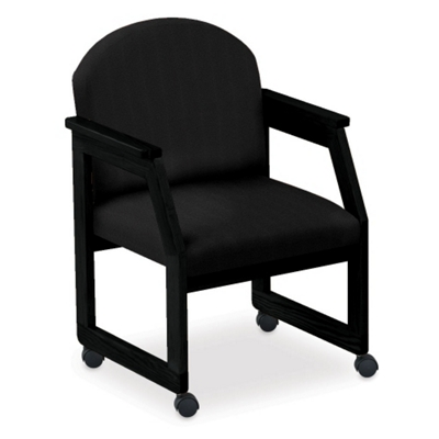 Round Back Conference Chair with Casters