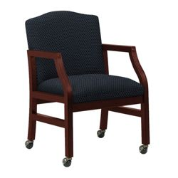 Heavy-Duty Fabric Traditional Guest Chair with Casters
