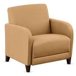 "Parkside Oversized Guest Chair in Polyurethane or Fabric - 31""W"
