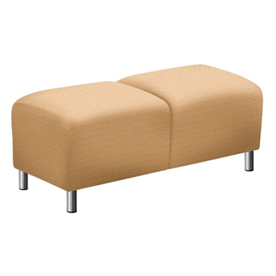 """Parkside Two Seat Bench in Polyurethane or Fabric - 43""""W"""