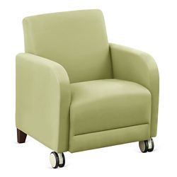 """Parkside Guest Chair with Casters in Polyurethane or Fabric - 27""""W"""