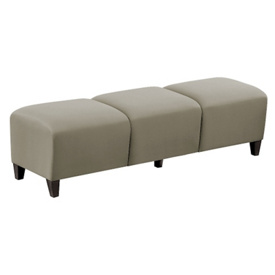 """Parkside Three Seat Bench in Polyurethane or Fabric - 64.5""""W"""