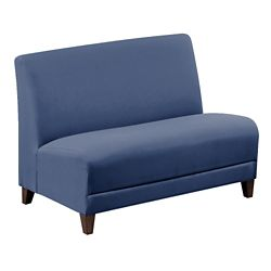 """Parkside Armless Loveseat in Polyurethane or Fabric - 44""""W"""