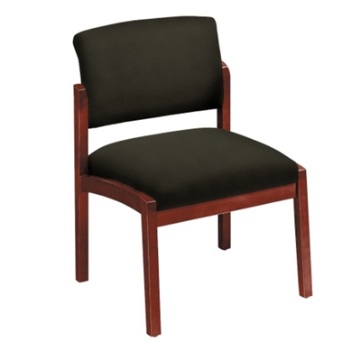 New Castle Fabric Armless Guest Chair