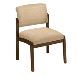 New Castle Designer Upholstery Armless Guest Chair