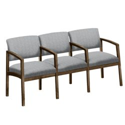 New Castle Designer Upholstery Three Seater with Center Arms